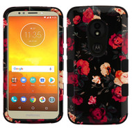 Military Grade Certified TUFF Image Hybrid Armor Case for Motorola Moto E5 Play / E5 Cruise - Red and White Roses