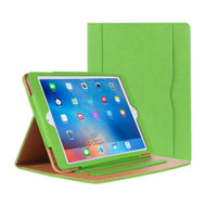 *SALE* Slim Folding Stand Smart Leather Folio Case and Screen Protector for iPad (2018/2017) / iPad Air - Green