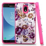 Tough Anti-Shock Hybrid Case for Samsung Galaxy J7 (2018) - Violet Flowers