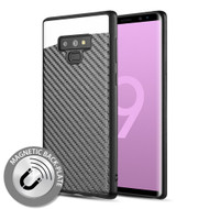 Carbon Metallic Luxury Fusion Case with Magnetic Back Plate for Samsung Galaxy Note 9 - Black
