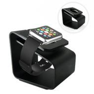 Aluminum Desktop Charging Dock Stand for Apple Watch - Black