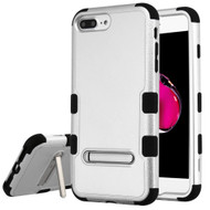 Military Grade Certified TUFF Hybrid Armor Case with Stand for iPhone 8 Plus / 7 Plus / 6S Plus / 6 Plus - Silver