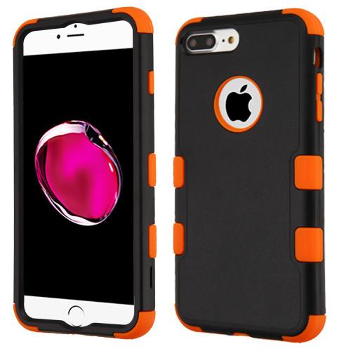 Military Grade Certified TUFF Hybrid Armor Case for iPhone 8 Plus / 7 Plus - Black Orange