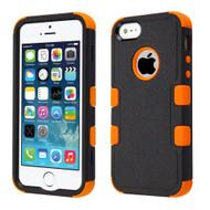 Military Grade Certified TUFF Hybrid Case for iPhone SE / 5S / 5 - Black Orange