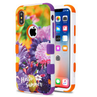 Military Grade Certified TUFF Hybrid Image Armor Case for iPhone X - Chrysanthemum Field