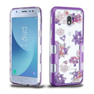 TUFF Panoview Diamante Transparent Hybrid Case for Samsung Galaxy J3 (2018) - Purple Stargazers