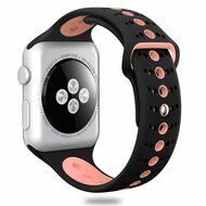 Sport Band Watch Strap for Apple Watch 40mm / 38mm - Black Pink