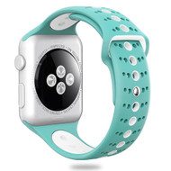 Sport Band Watch Strap for Apple Watch 40mm / 38mm - Teal White