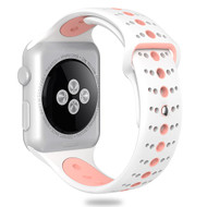 Sport Band Watch Strap for Apple Watch 40mm / 38mm - White Pink