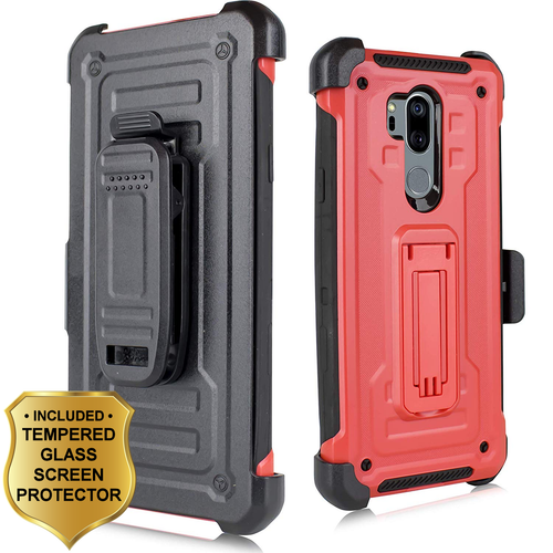 3 In 1 Rugged Hybrid Kickstand Case With Holster And