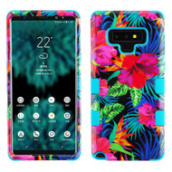 Military Grade Certified TUFF Image Hybrid Armor Case for Samsung Galaxy Note 9 - Electric Hibiscus