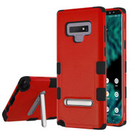 Military Grade Certified TUFF Hybrid Armor Case with Stand for Samsung Galaxy Note 9 - Red