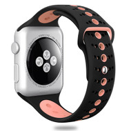 Sport Band Watch Strap for Apple Watch 44mm / 42mm - Black Pink
