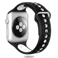 Sport Band Watch Strap for Apple Watch 44mm / 42mm - Black White