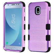 Military Grade Certified Brushed TUFF Hybrid Armor Case for Samsung Galaxy J3 (2018) - Purple