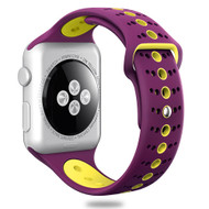 Sport Band Watch Strap for Apple Watch 44mm / 42mm - Purple Yellow