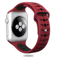 Sport Band Watch Strap for Apple Watch 44mm / 42mm - Red Black