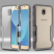 TUFF Panoview Transparent Hybrid Case for Samsung Galaxy J7 (2018) - Grey