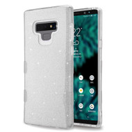 Tuff Full Glitter Hybrid Protective Case for Samsung Galaxy Note 9 - Silver