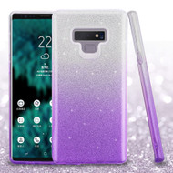 Full Glitter Hybrid Protective Case for Samsung Galaxy Note 9 - Gradient Purple