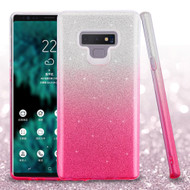 Full Glitter Hybrid Protective Case for Samsung Galaxy Note 9 - Gradient Pink