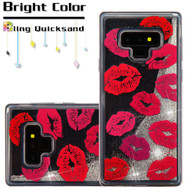 Quicksand Glitter Transparent Case for Samsung Galaxy Note 9 - Blissful Kisses