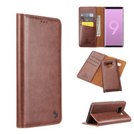 2-IN-1 Luxury Magnetic Leather Wallet Case for Samsung Galaxy Note 9 - Brown