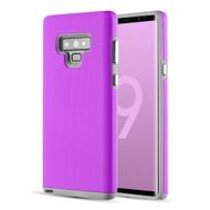 Haptic Football Textured Anti-Slip Hybrid Armor Case for Samsung Galaxy Note 9 - Purple