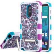 Military Grade Certified TUFF Hybrid Image Armor Case with Stand for LG Stylo 4 - Persian Paisley