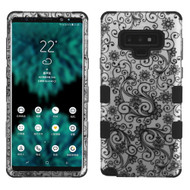 Military Grade Certified TUFF Image Hybrid Armor Case for Samsung Galaxy Note 9 - Four Leaves Clover Black