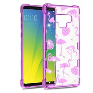 Klarity Purple plating Transparent Anti-Shock TPU Diamond Case for Samsung Galaxy Note 9 - Flamingo Land
