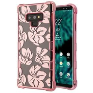 TUFF Klarity Electroplating Transparent Anti-Shock TPU Diamond Case for Samsung Galaxy Note 9 - Magnolia Garden