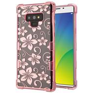 TUFF Klarity Electroplating Transparent Anti-Shock TPU Case for Samsung Galaxy Note 9 - Hibiscus Flower