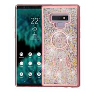 Electroplating Quicksand Glitter Transparent Case for Samsung Galaxy Note 9 - Dreamcatcher Rose Gold