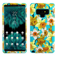 Military Grade Certified TUFF Image Hybrid Armor Case for Samsung Galaxy Note 9 - Spring Daffodils