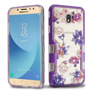 TUFF Panoview Diamond Transparent Hybrid Case for Samsung Galaxy J7 (2018) - Purple Stargazers