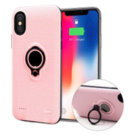 *Sale* Smart Power Bank Battery Charger Case 5000mAh with Ring Holder for iPhone XS / X - Pink