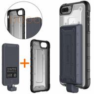*Sale* 2-IN-1 Hybrid Case + Detachable Power Bank Battery 4800mAh for iPhone 8 Plus / 7 Plus / 6S Plus / 6 Plus - Black