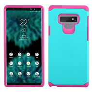 Hybrid Multi-Layer Armor Case for Samsung Galaxy Note 9 - Teal Green Hot Pink