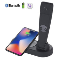 *SALE* 2-IN-1 Intelligent Qi Charging Pad Wireless Charger with Bluetooth Wireless Handset - Black