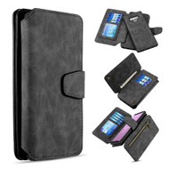 3-IN-1 Luxury Coach Series Leather Wallet with Detachable Magnetic Case for Samsung Galaxy Note 9 - Black