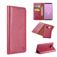 2-IN-1 Luxury Magnetic Leather Wallet Case for Samsung Galaxy Note 9 - Hot Pink