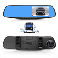 Mirror Cam Front and Rear View HD Camera DVR