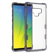 TUFF Klarity Electroplating Transparent Anti-Shock TPU Case for Samsung Galaxy Note 9 - Gunmetal