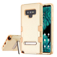 Military Grade Certified TUFF Hybrid Armor Case with Stand for Samsung Galaxy Note 9 - Rose Gold 408