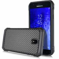 Tough Anti-Shock Hybrid Case for Samsung Galaxy J7 (2018) - Carbon Fiber