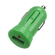 Bullet In-Car USB Charger Adapter with IC Chips - Green