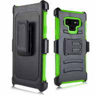 *SALE* Advanced Armor Hybrid Kickstand Case with Holster for Samsung Galaxy Note 9 -  Green