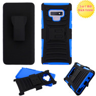 Advanced Armor Hybrid Kickstand Case with Holster for Samsung Galaxy Note 9 -  Blue 203