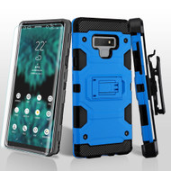 Military Grade Certified Storm Tank Hybrid Case with Holster and Screen Protector for Samsung Galaxy Note 9 - Blue